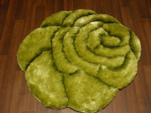 Area Rug Home 3D Rose Design Small Living Room Bedroom Floor Mat New Green Nice